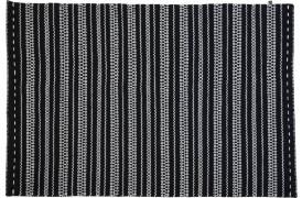 Braga tæppe - sort / hvid