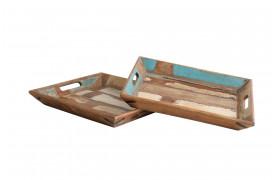 Her ses et billede af Scrapwood serveringsbakkerne fra vores Unika Collection.