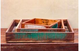 Her ses et billede af Scrapwood square bakkerne fra vores Unika Collection.