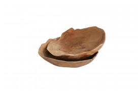 Her ses et billede af Slim skålen i teak træ fra vores Unika Collection.