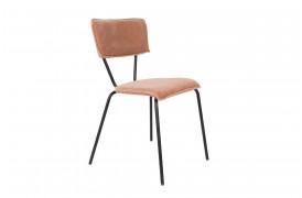 Her ses et billede af Melonie spisebordsstolen i pink fra Dutchbone.