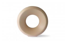 Keramik cirkel vase L - Sand fra HKliving.