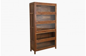 Her ses et billede af vores biblioteksskab med 5 låger fra vores Unika Collection.