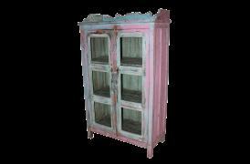 Fin lyserød vitrine
