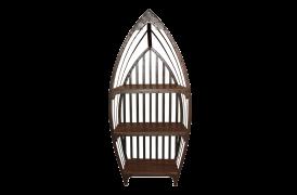 Patineret gammel skibsrol i træ og metal fra Unika Collection.
