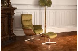 Her ses Prime lænestolen fra Conform i en flot oliven farve.