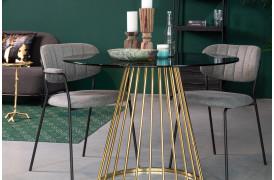 Floris er et smukt spisebord med røgfarvet glasplade fra Decoholic.