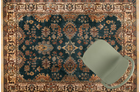 Raz tæppet er et vævet tæppe med frynser i persisk stil fra Decoholic.