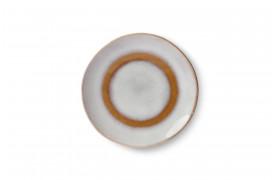 Sidetallerken - Snow fra serien 70'er keramik.