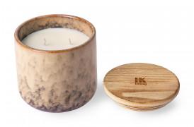 Keramik duftlys, som har en sød duft af mango og grapefrugt.