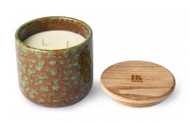 Keramik duftlys, som har en blomsterduft af jasmin og rose.