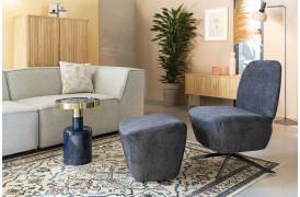 Her ses et billede af Dusk loungestolen i mørk grå fra Zuiver.