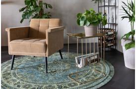 Dutchbones tæppe med navnet Bodega er et rundt persisk inspireret tæppe.