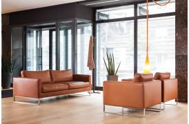 Elegance sofaen er også utrolig flot i læder, som den også kan fås i.