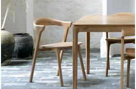 Denne teaktræs spisebordsstol passer sammen med Bok Teak - spisebordet.