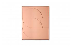 Her ses et billede framed relief art panel vægdekoration i peach i størrelse D large fra HKliving.