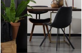 Her ses et billede af Franky spisebordsstol i sort fra Dutchbone.