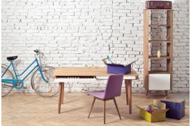 Ena er en flot og stilren spisebordsstol med læder- eller stofsæde.
