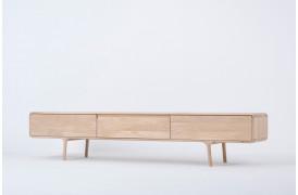 Fawn tv-bordet ses her i modellen med 3 skuffer.