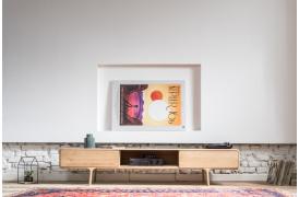 Fawn tv-bordet kan også bruges som et hi-fi møbel.
