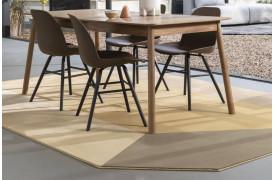 Harmony gulvtæppe i brune nuancer fra Zuiver.
