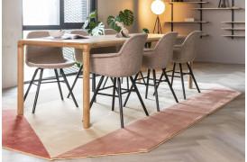 Harmony gulvtæppe i pink fra Zuiver.