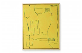 Framed Brutalism Painting Yellow