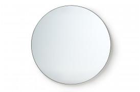 Her ses et billede af Rundt spejl med metalramme i str. 120 x 120 cm.