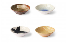 Kyoto ceramics skåle som sælges som et sæt af 4.