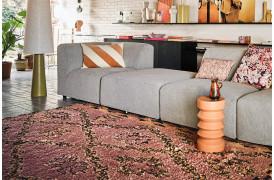 Håndknyttet uld berber tæppe i Terra / orange.