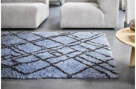 Uld berber-tæppe i grå / blå fra HKliving