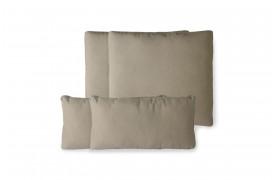 Brunt hyndesæt til lounge sofa i aluminium fra HKliving.