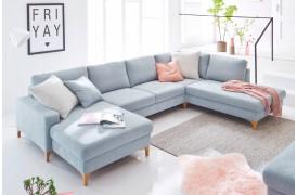 Coast sofaen er en ny familievenlig sofa der passer til de fleste, her set i Opstilling 6.