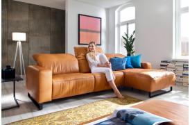 Empire sofaen fra Indomo er en behagelig luksussofa, der også fås i læder.