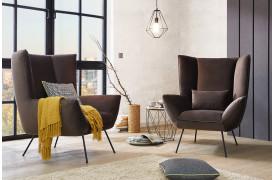 Evy lænestolen fra Indomo ses her i en boligindretning.