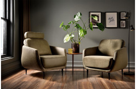 Hyggelige hjem har behov for hyggelige lænestole, som Liv lænestolen fra Indomo.