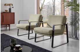 Her på billedet ses Mitchell lænestolene i farven Style - Oliv.