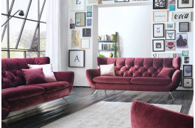 Sixty sofaen fra Indomo har et design som en klassisk retro sofa.