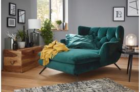 Sixty chaiselong sofaen fra Indomo har et design som en klassisk retro sofa.