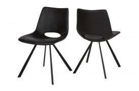 Her ser du et billede af Joe spisebordsstol i farven sort uden armlæn og 4 ben.
