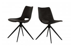 Her ser du et billede af Joe spisebordsstol i farven sort uden armlæn og drejestel.