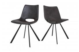 Her ser du et billede af Joe spisebordsstol i farven grey black uden armlæn og 4 ben.