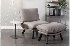 Her ses et billede af Lazy sack loungestolen i grå fra Zuiver.