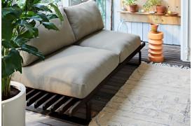 Lounge sofa i aluminium i farven Charcoal.