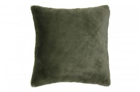 Mendy puden i oliven grøn imiteret pels.