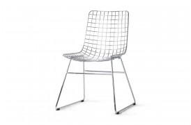 Wire stol i metal - Sølv fra HKliving.