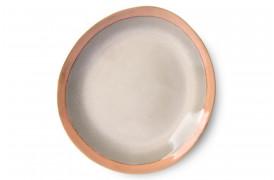 Middagstallerken i jordnære farver fra serien 70'er keramik.