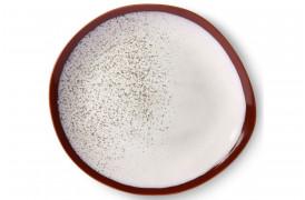 Middagstallerken i nuancen Frost fra 70'er keramik.