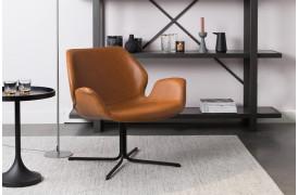 Her ses et billede af Nikki loungestol i brun fra Zuiver.