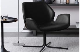 Her ses et billede af Nikki loungestolen i sort fra Zuiver.